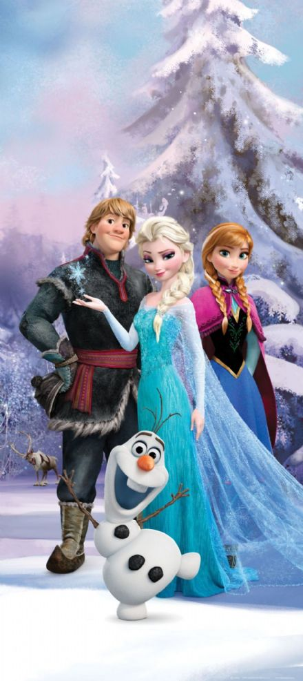 Frozen mural wallpaper 90x202cm
